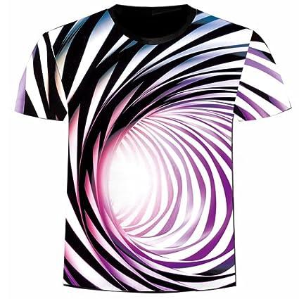 Hombre camiseta T-shirt manga corta,Sonnena ❤ Chaleco estampado tridimensional para hombre