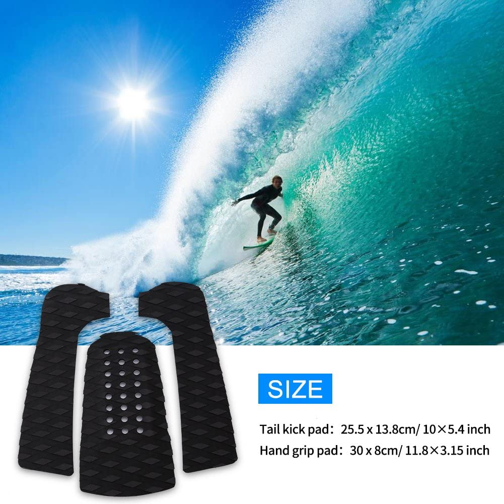 Skimboard Longboard Zyyini Surfboard Traction Pad Surfboard Anti-Rutsch Traction Pad Tailpad Deck Grip f/ür Surfboard
