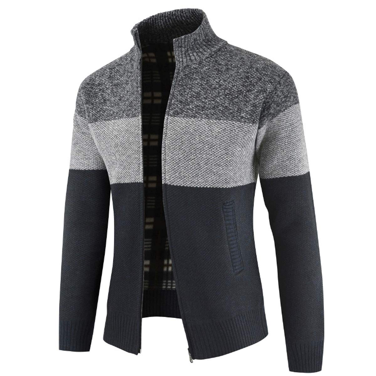 Mens Riverton 'Fleece Lined' Zip Up Cardigan Jumper Sweater Warm Winter Jacket