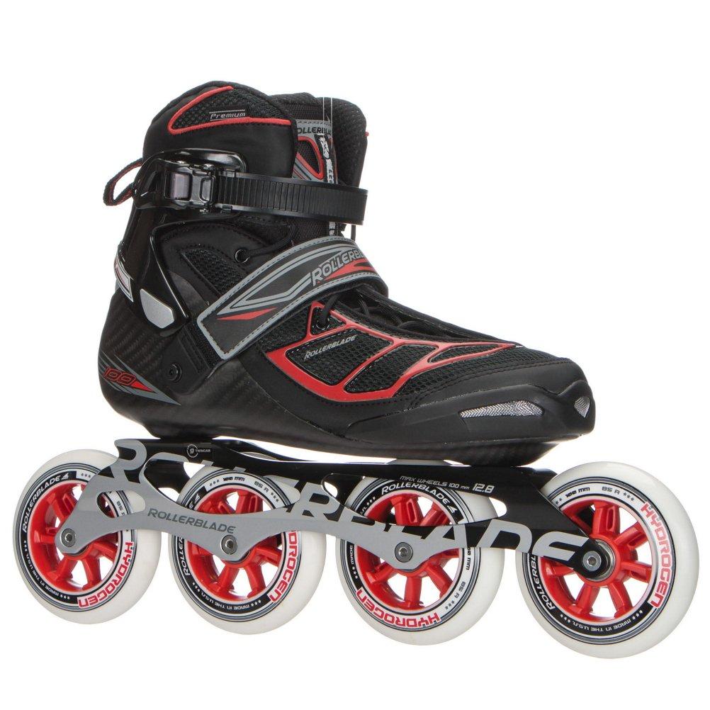 Rollerblade Tempest 100 Inline 希少 Skatesブラック ブラック レッド 8 B01N74Q8ZQ 人気ブランド