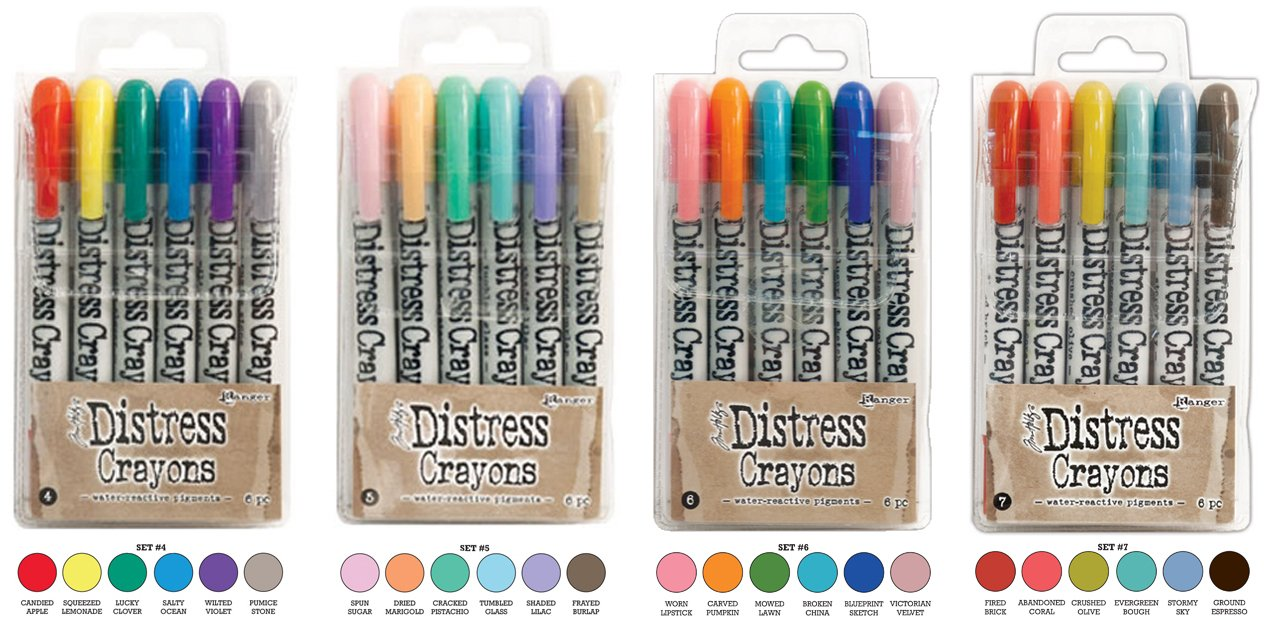 Ranger Tim Holtz Distress Crayons Bundle: Sets 4, 5, 6, 7 Ranger Ink