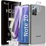 Tauri 2 Pack Flexible TPU Film Screen Protector + 2 Pack Camera Lens Protector Compatible for Samsung Galaxy Note 20 5G 6.7 -