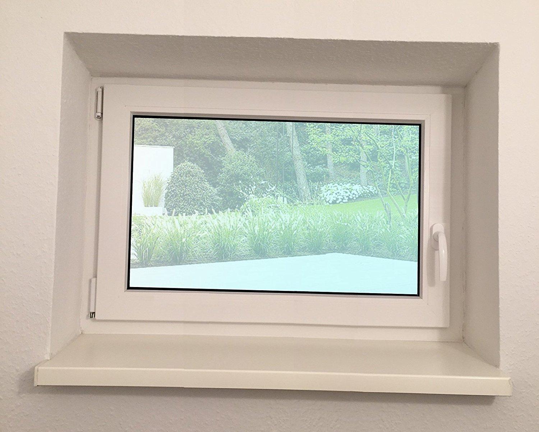 BxH: 60x70cm Wunschma/ße ohne Aufpreis Kellerfenster Fenster Kunststoff 3-Fach-Verglasung wei/ß DIN Links