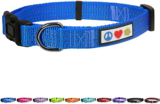 Dog Collar by Pawtitas Adjustable Pet Soft Padded Reflective Puppy