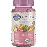 Garden of Life mykind Organics Women's Gummy Vitamins - Berry - Certified Organic, Non-GMO, Vegan, Kosher Complete Multi…
