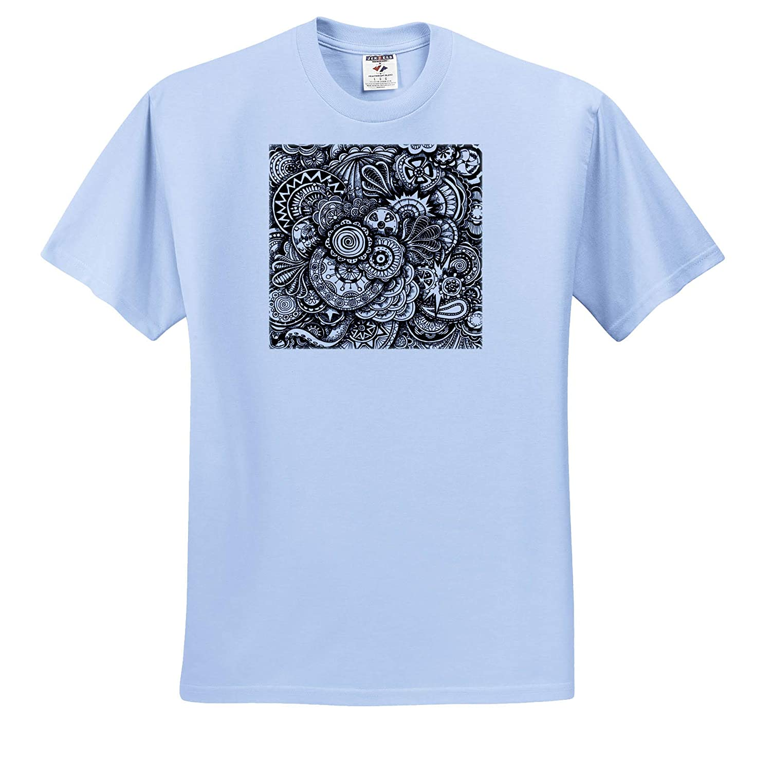 Adult T-Shirt XL Zentangle Style Art Art ts/_317501 3dRose Travis ECK