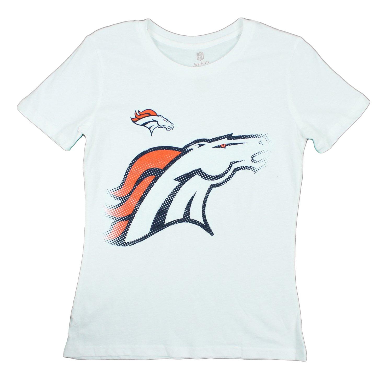 【最安値に挑戦】 Denver B014JUN4C2 Broncos Denver NFLジュニアレディーススパイラルロゴTシャツ Large、ホワイト Large B014JUN4C2, ワールドワン:32f531c6 --- a0267596.xsph.ru