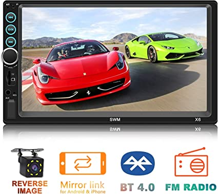 Colorful Lights Set with Rear Camera Input HD Touch Screen Support Mirror Link Stereo Radio Receiver Car MP5 Player