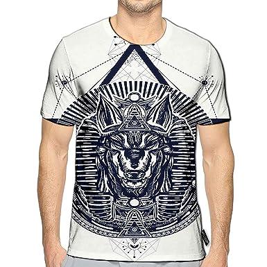 Amazon com: 3D Printed T-Shirts Anubis Sacred Geometry