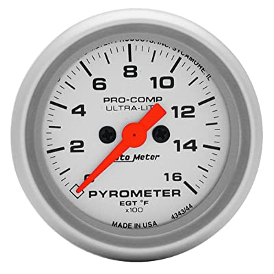Auto Meter 4344 Ultra-Lite Electric Pyrometer Gauge Kit: Automotive