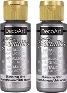 product image for DecoArt - Dazzling Metallics Shimmering Acrylic Paint (2-Ounce) (Silver) (2-Pack)