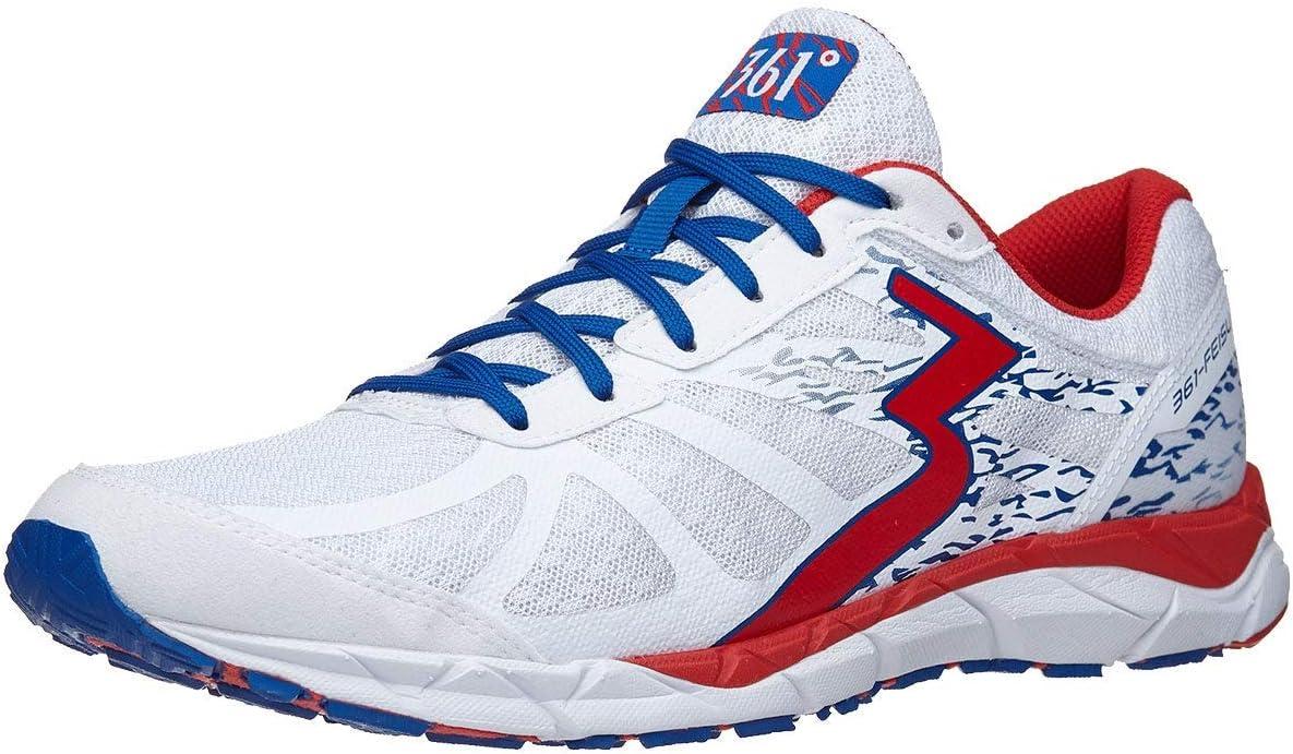 361 Degrees Feisu Men's Shoes White/Risk Red White/Risk Red