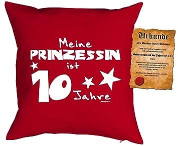 Madchen Geburtstags Deko Kissen Inkl Spass Urkunde Meine Prinzessin