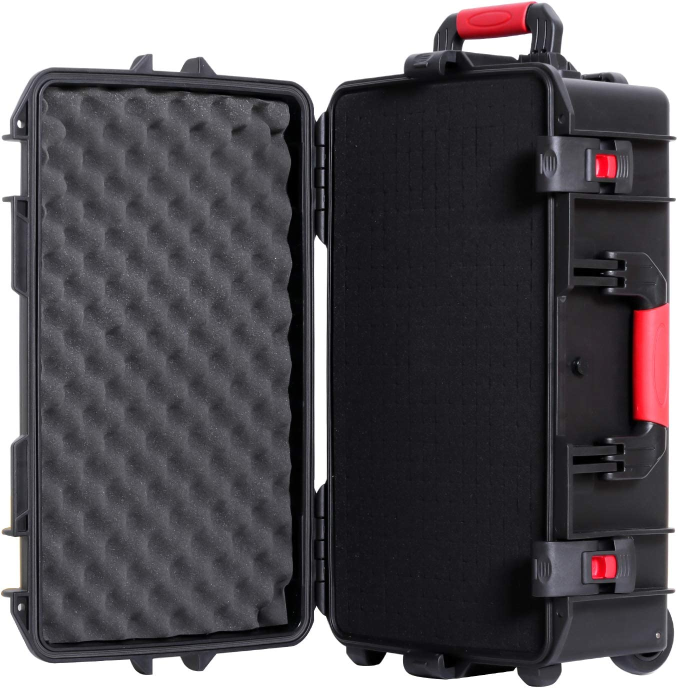 More 86001 TANKSTORM Waterproof Carry-On Hard Case with Wheels and Customizable Foam for Camera