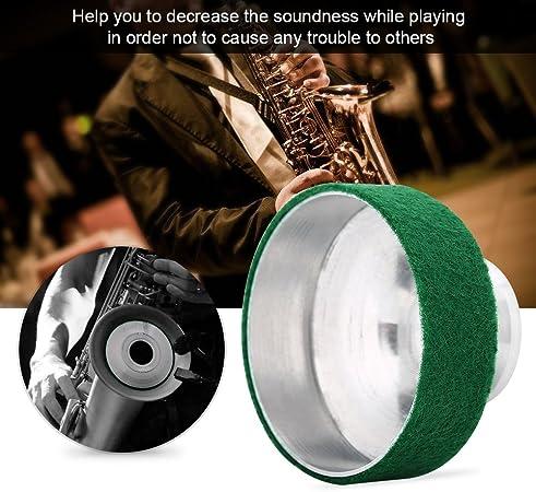 Profesional Saxof/ón Tenor Mute de Pl/ástico Amortiguador de Sonido para Saxof/ón