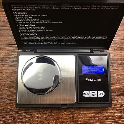 Vovomay - Báscula digital de precisión de 500 g, para joyas doradas 0.01