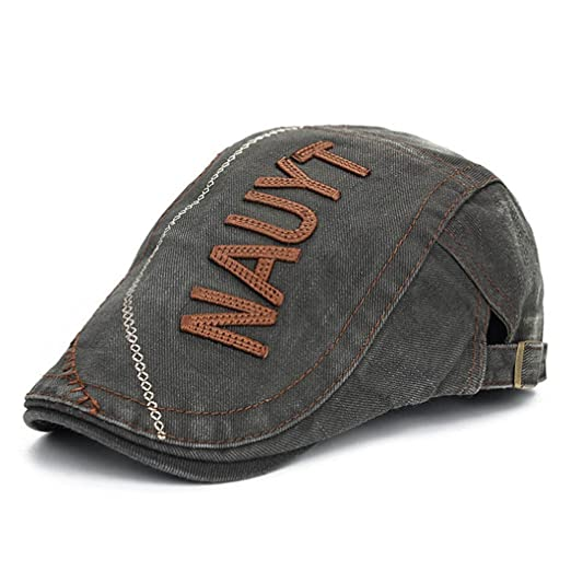624aac46676 King Star Men Denim Newsboy Ivy Cabbie Irish Cap Hat Army Green at ...