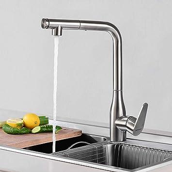 Rubinetto Cucina con Doccetta Estraibile, BONADE 360° Girevole Rubinetto  per cucina con doccia, 2 Funzioni Miscelatore Monocomando con Acqua Calda e  ...