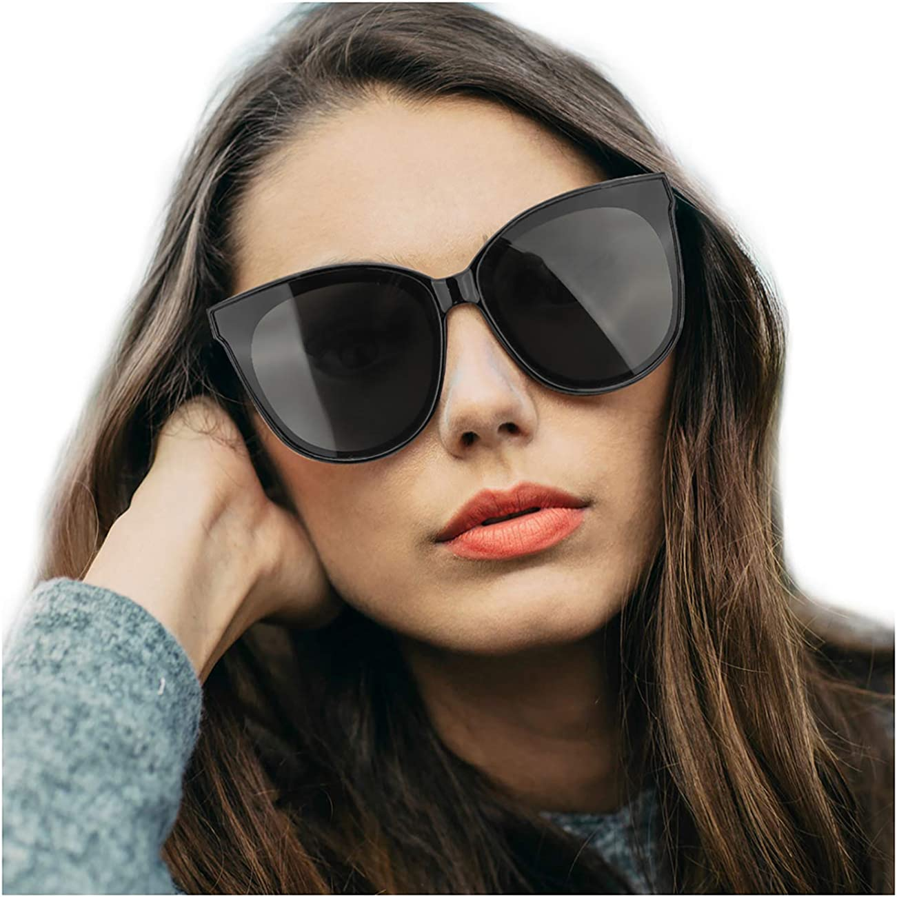 Ladies Womens Oversized Cat Eye Sunglasses Vintage Style Retro Shades Eyew Rs