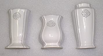 amazon com southern living at home set of 3 petite bud vases home