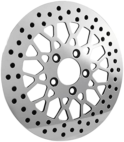 Amazon Com Bikers Choice 11 5 In Polished Mesh Style Rear Brake