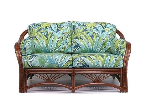 Amazon.com: Sofá de mimbre para salón (#1691AW-BP): Kitchen ...