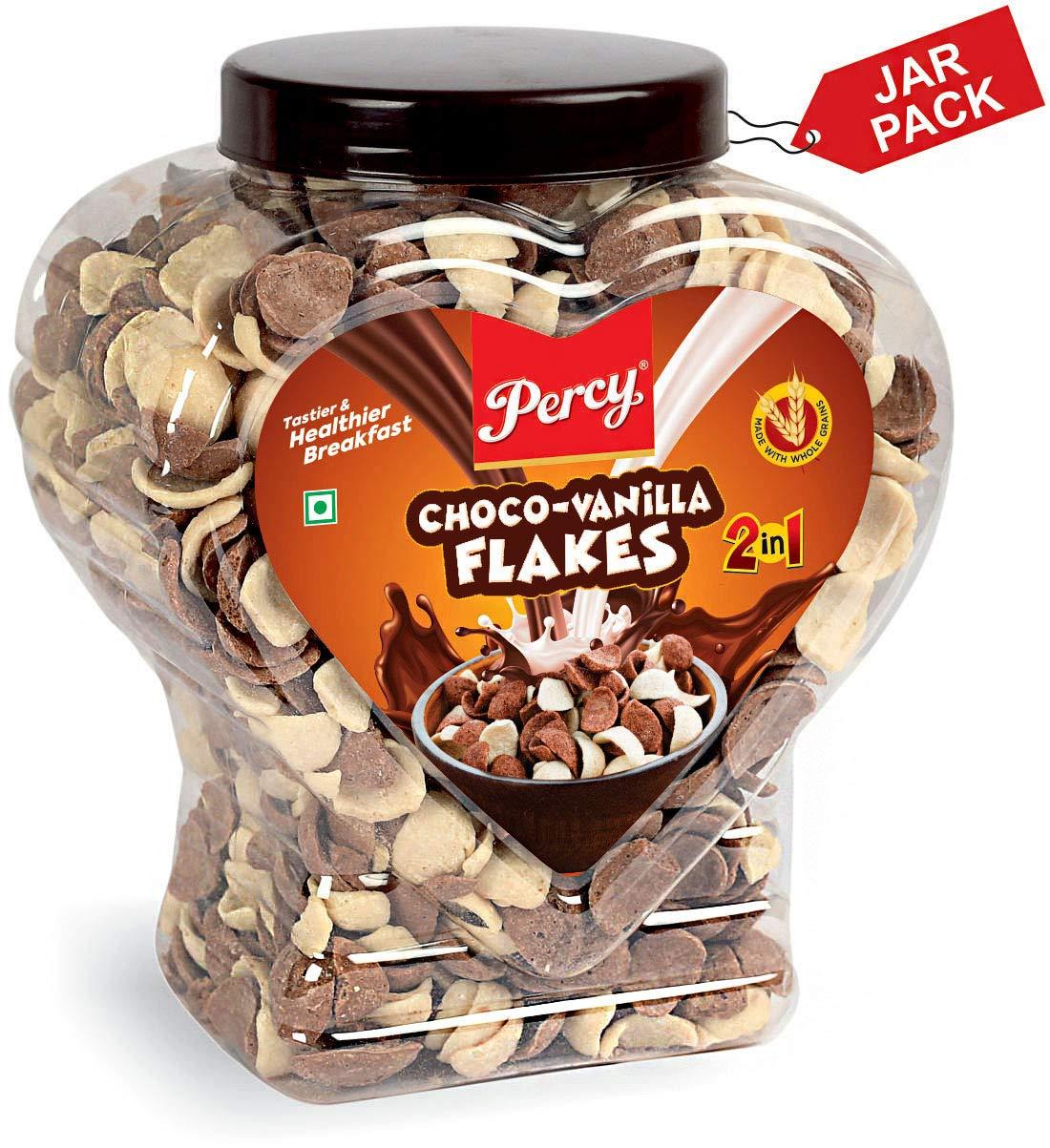 Percy Breakfast Cereal, Choco Vanilla Flakes, Jumbo Jar at Rs.182