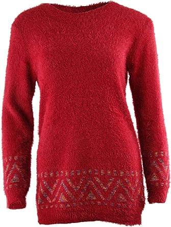 WAWAYA Women Stripe Print Loose Fit Fuzzy Long Sleeve Casual Pullover Sweatshirt Top Blouse