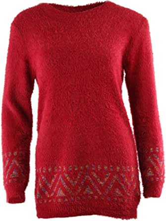 Cromoncent Men Loose Fit Knitwear Pullover Crew Neck Color Block Fuzzy Jumper Sweaters