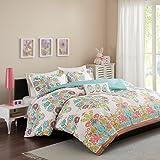 Mizone MZ10-456 Mi Zone Britt Comforter Set Full/Queen Coral,Full/Queen