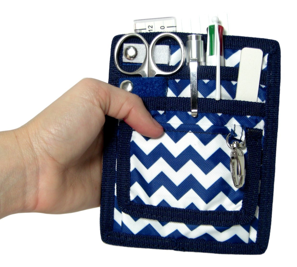 Perfect Gift For Nurses 6 Piece Protective Lab Coat Pocket Organizer Kit has Popular Sky Blue Chevron Pattern Youre Sure to Love/ Students /& You!