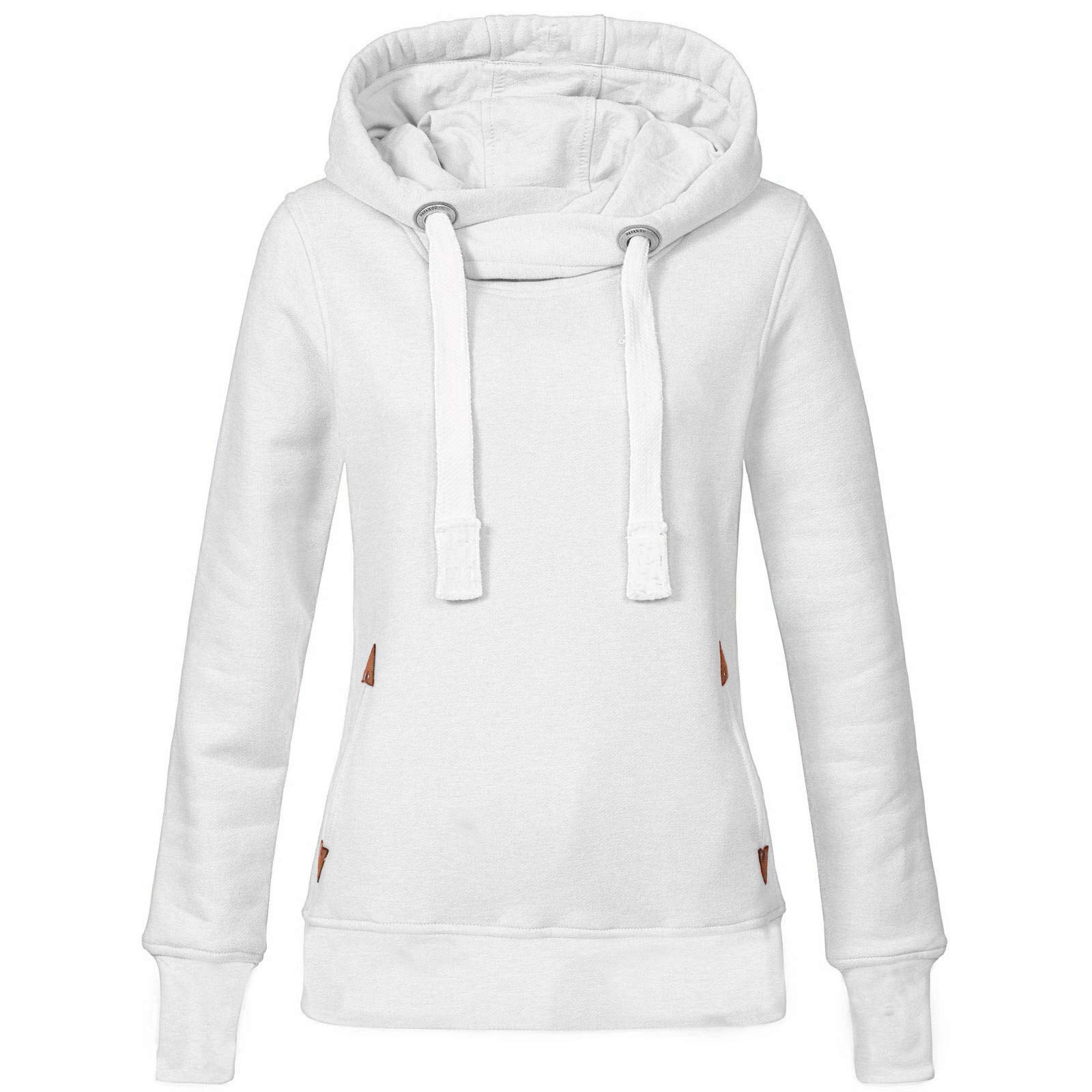 Oversized Pullover Sweaters for Women Plus Size Long Sleeve Solid Sweatshirt Hooded Tops Shirt L