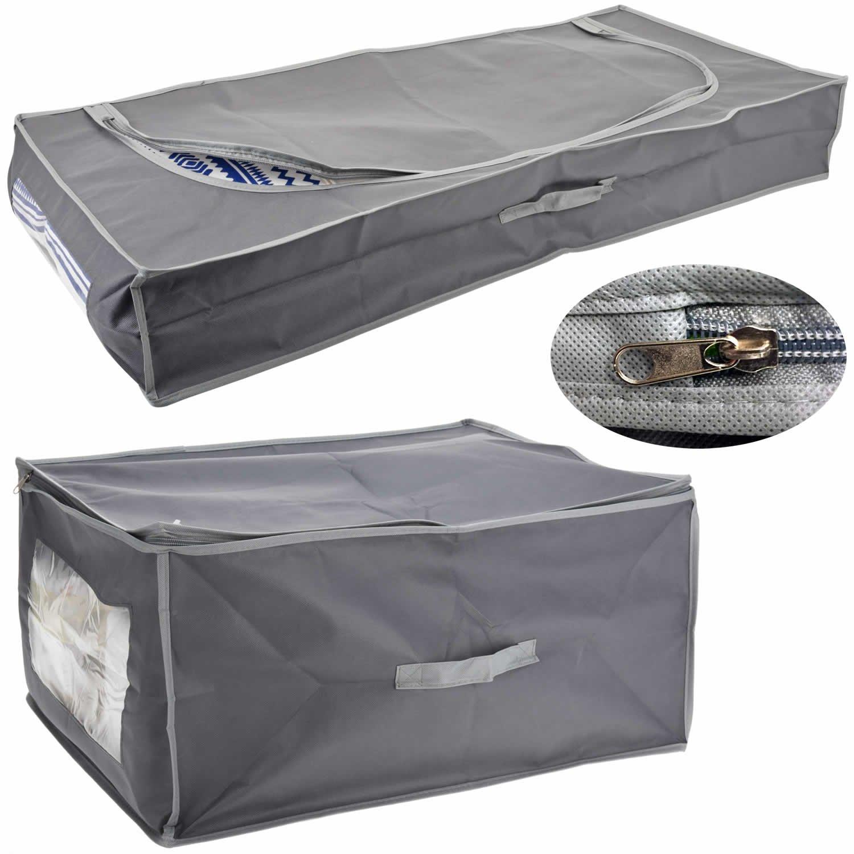 LS-Design Stoff Unterbettkommode 105x45x16cm Vlies Aufbewahrungsbox Kleiderbox