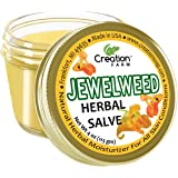 Creation Farm Jewelweed Herbal Salve Jar 4 oz Poison Ivy Relief Diaper Rash Sensitive Skin Treatment Balm Helps Protect from Moisture Infection Chaffing Relieves Bug Bites Swimmer Itch