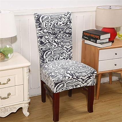 Amazon.com: NUAN HUOBAO Spandex Velvet Dining Chair Cover Dustproof ...