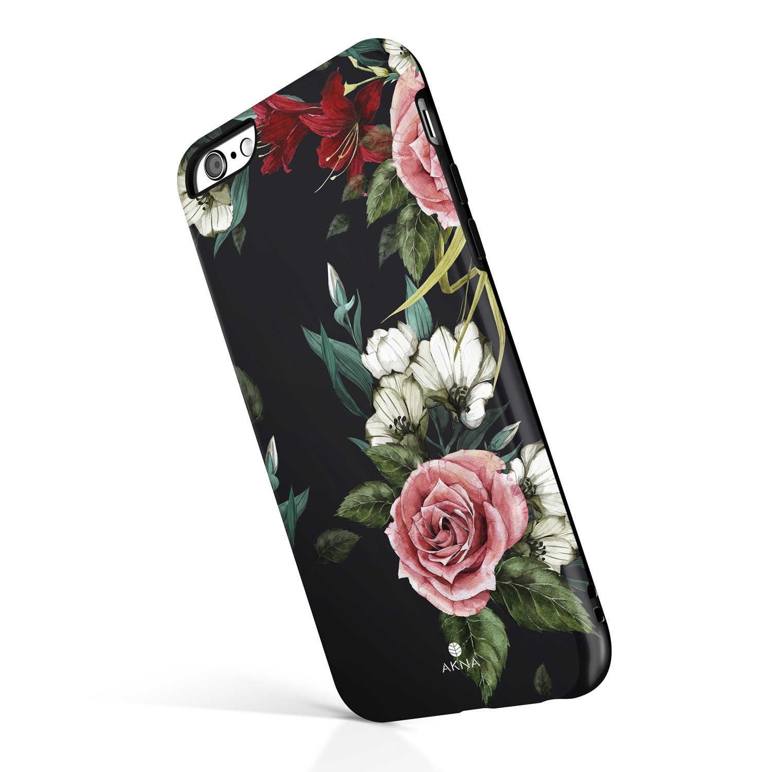 iPhone 6 Plus / 6s Plus case for Girls, Akna Collection Flexible Silicon Cover for Both iPhone 6 Plus & iPhone 6s Plus [Roses and Lilies](752-U.S)