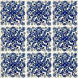 """Color y Tradicion 9 Mexican Tiles 4"""" x 4"""" Hand Painted Talavera C171"""