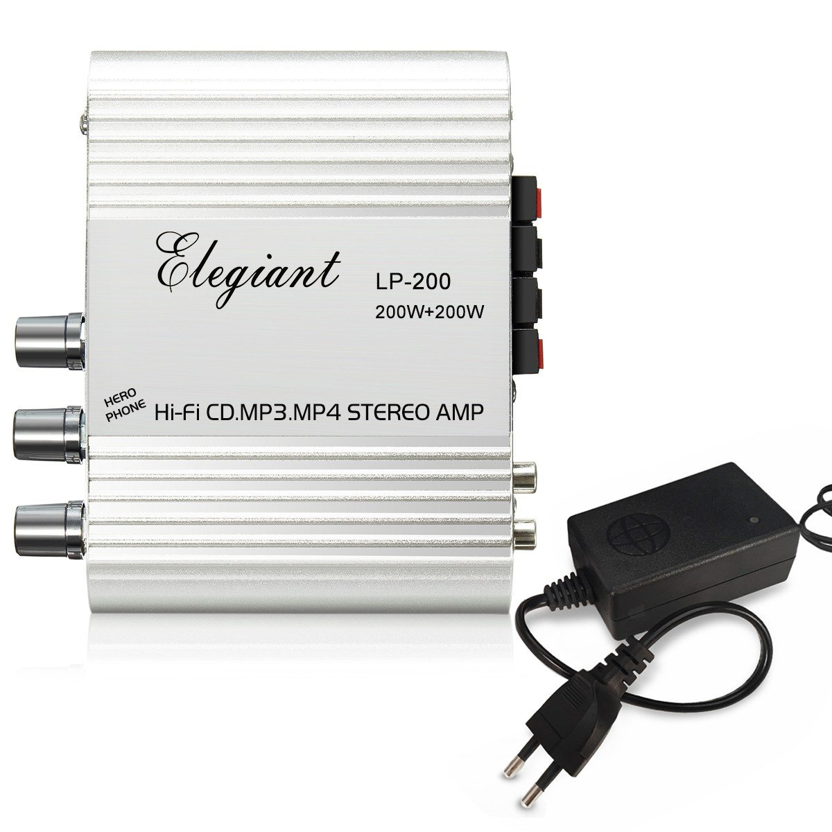 ELEGIANT 200W 2.1CH Mini HiFi Auto KFZ MP3 Stereo Audio: Amazon.de:  Computer & Zubehör