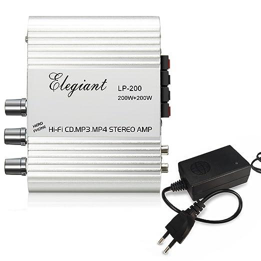 29 opinioni per Amplificatore Auto Stereo, ELEGIANT 200W 2.1CH Mini HiFi Auto Audio