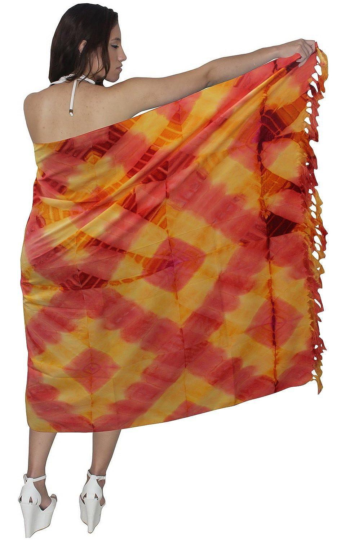 La Leela likre tie dye Diamant alles in einem Strand loung Abnutzung/Badeanzug vertuschen/Tunika/Damen sundress/Bikini Schlitz Rock/Verpackung Pareo/plus Größe Badeanzug Sarong Kleid 182x108 cm