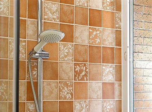 Wandfliesen aufkleber selbstklebend badezimmer fliesen deko sticker aufkleber folie for Wandfliesen steinoptik kuche