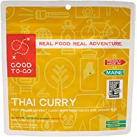 GOOD TO-GO Thai Curry | Dehydrated Backpacking and Camping Food | Lightweight | Easy to Prepare