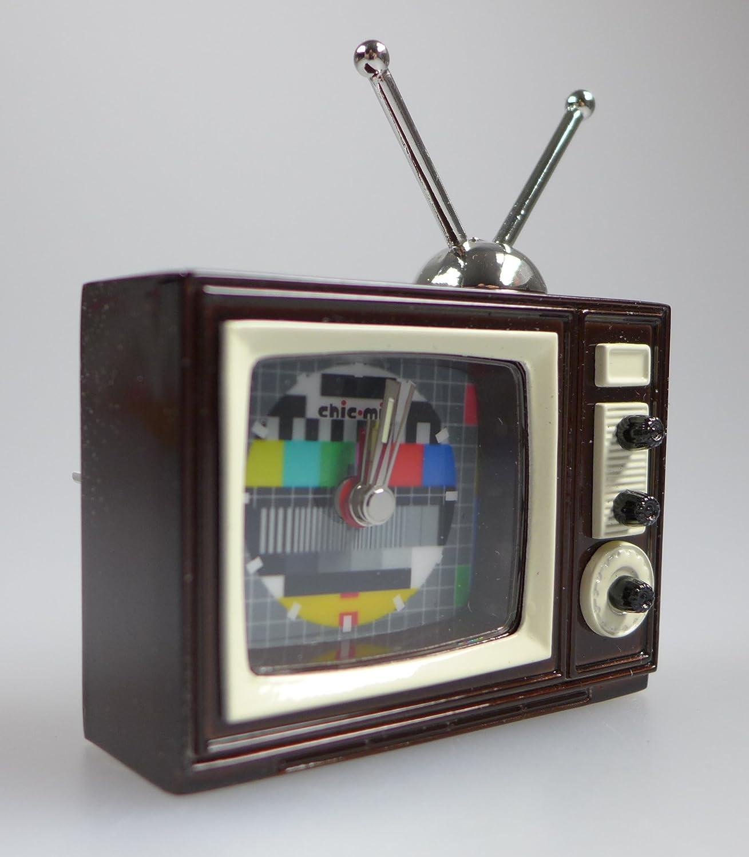 Reloj Miniatura – Televisor. TV CA 7 x 6 x 2,5 cm – Vintage Reloj – coleccionistas Relojes con estuche: Amazon.es: Relojes