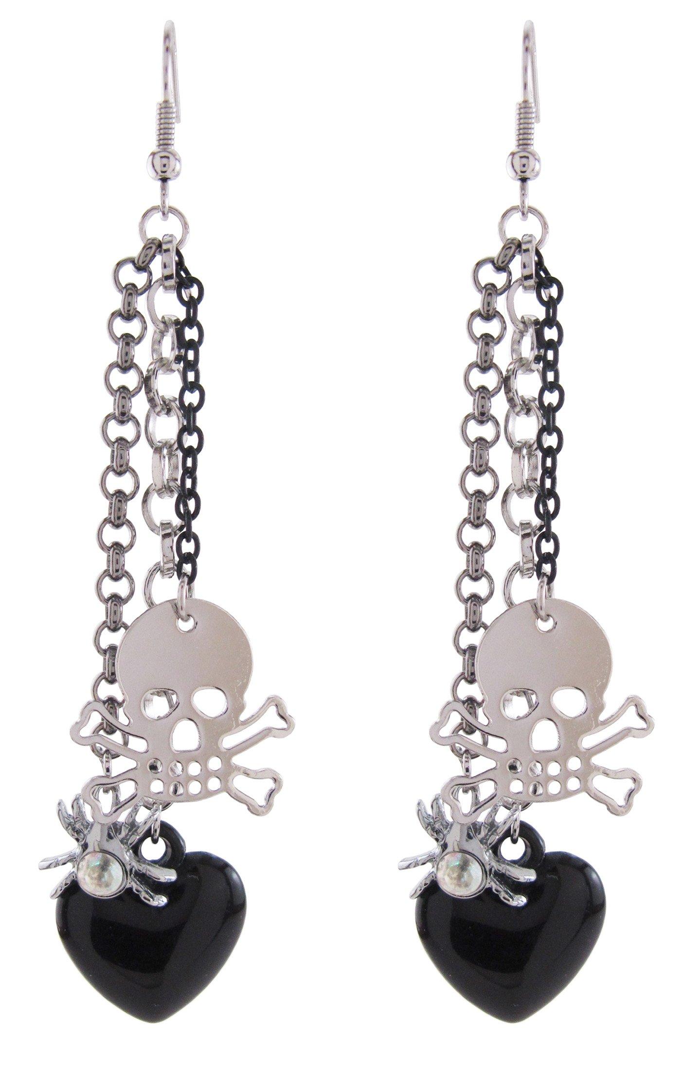 DaisyJewel Halloween Tarantula Love Skull Dangle Earrings by DaisyJewel (Image #1)