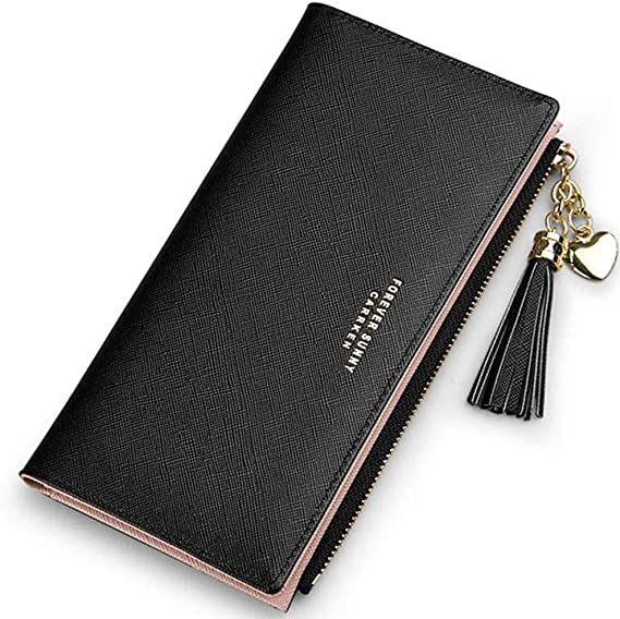 Women Lady Leather Wallet Long Zipper Purse Coin Phone Holder Case Clutch Large
