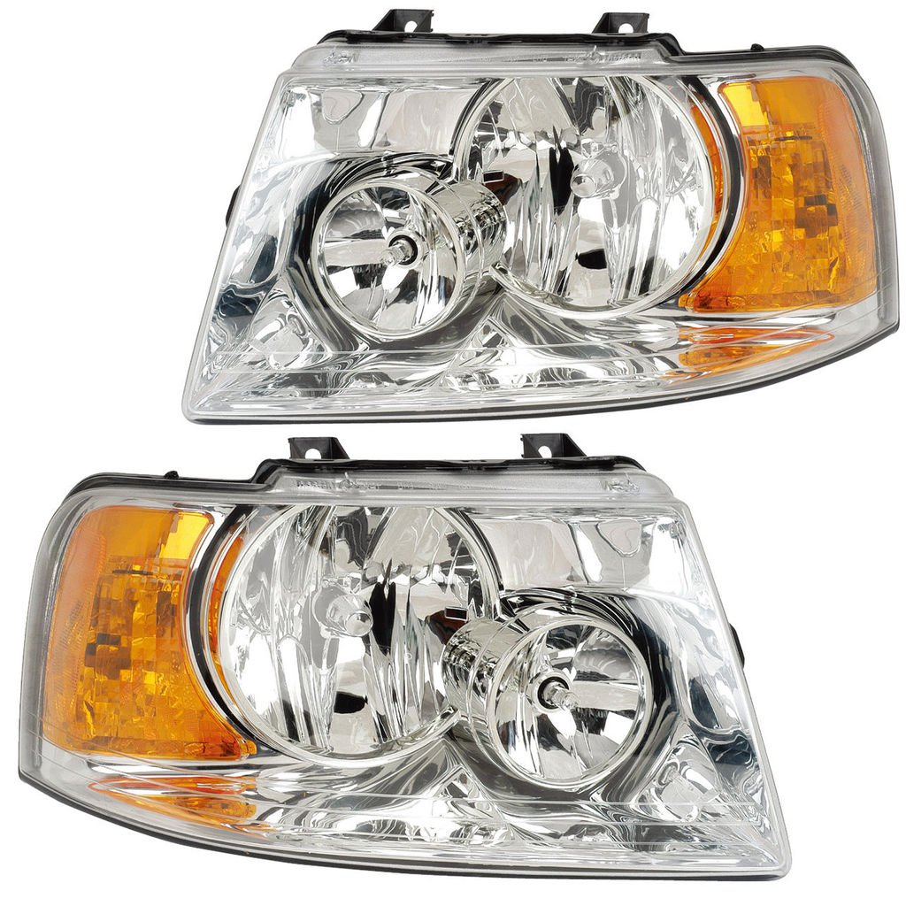 Holiday Rambler Ambassador 2007-2009 RV Motorhome Pair Chrome Front Lamps Headlights with Bulbs Left /& Right