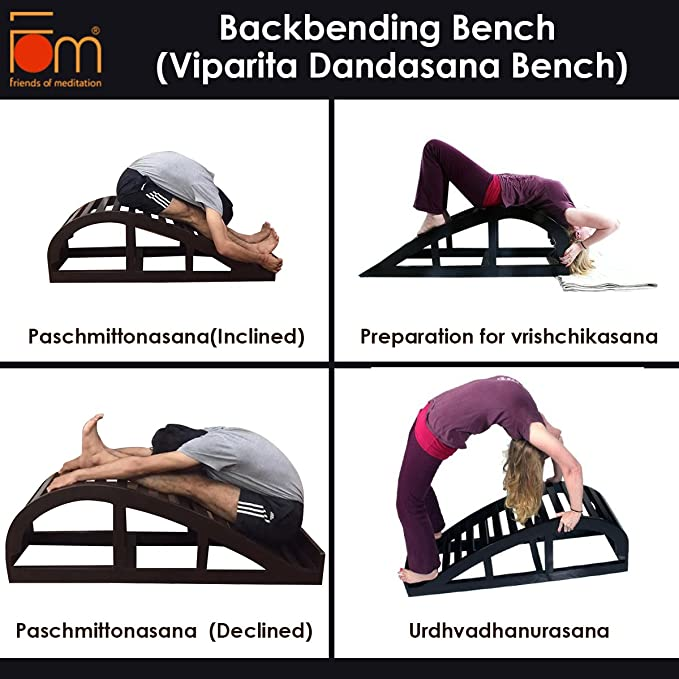 Amazon.com : Friends of Meditation Backbending Bench ...