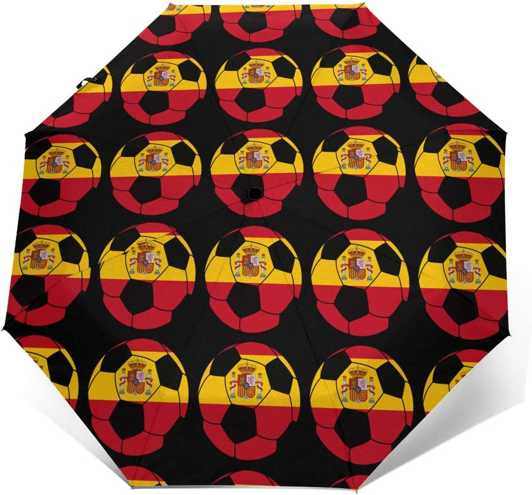 Spain Soccer Automatic Tri-Fold Umbrella Parasol Sun Umbrella Sunshade