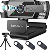 Webcam with Microphone for Desktop,1080P HD USB Webcam Live Streaming Laptop PC Computer Web Camera for Video Calling Confere