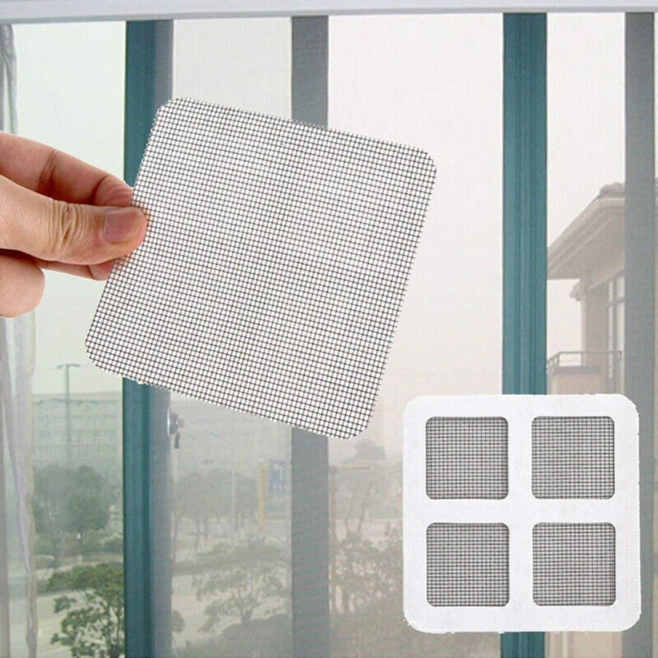 MachinYesell Anti-moustiques Maille Taches collantes Patchs Patchs pour moustiquaires pour fen/êtres d/ét/é R/éparation de trous bris/és sur la porte de la fen/être blanche
